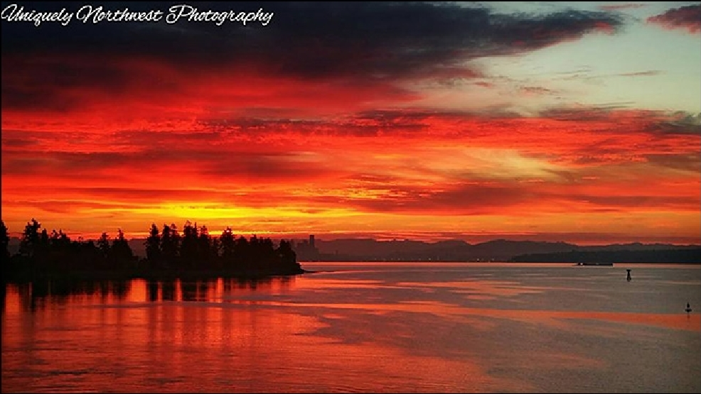 Photos: Dazzling sunrise display over Western Washington